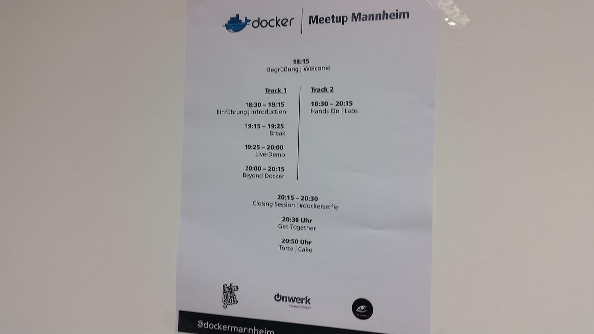 Docker Mannheim Timetable